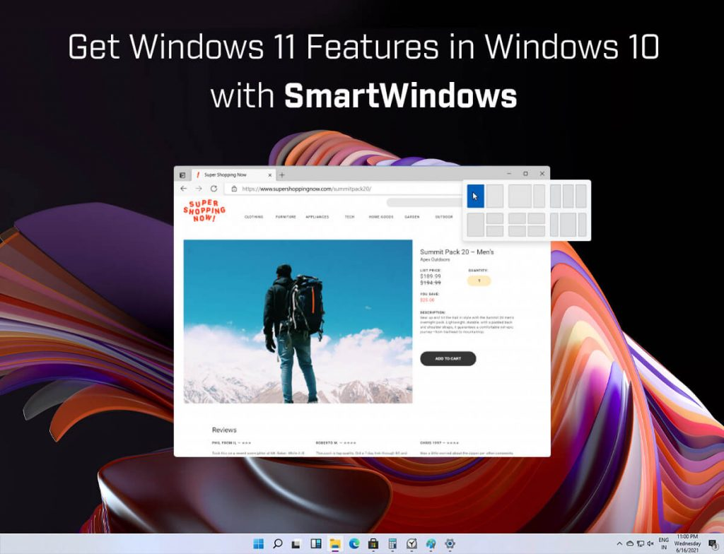 Get Windows 11 Features in Windows 10 with SmartWindows