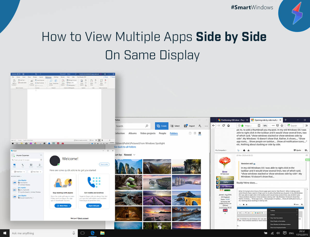 View Multiple Apps Side by Side