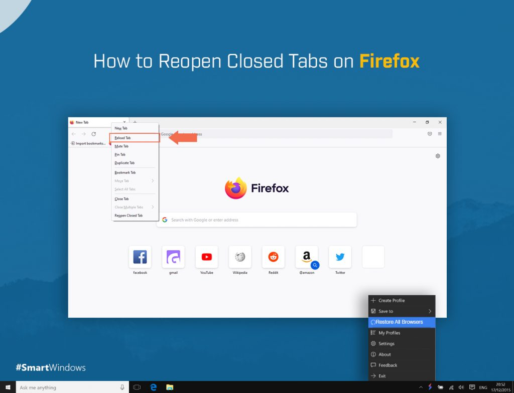 How to Reopen Closed Tabs on Firefox