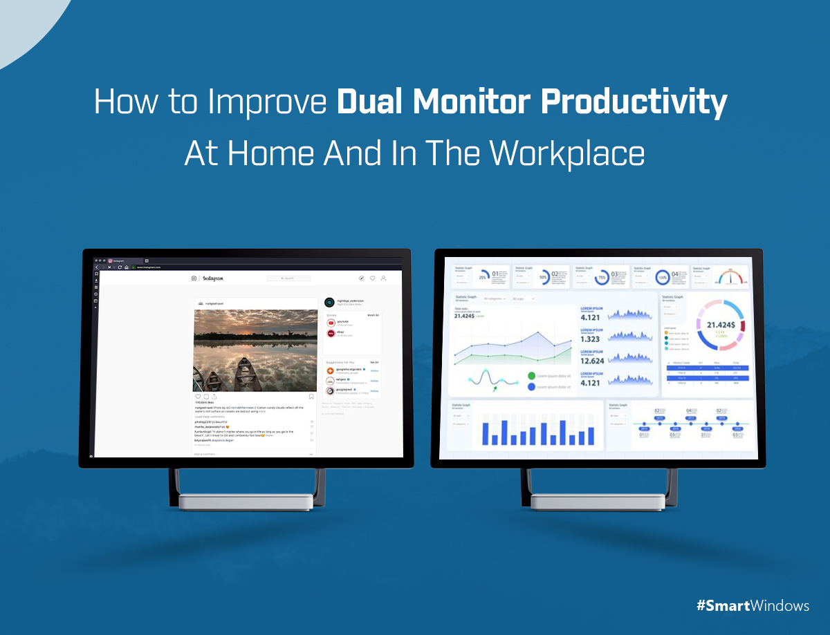 How to Improve Dual Monitor Productivity At Home And In The Workplace